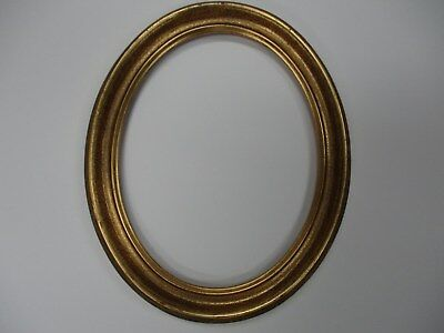 "OVAL PICTURE FRAME ANTIQUE GOLD 7"" X 9"" INSIDE DImensions Free Shipping"