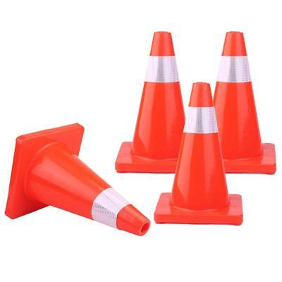 "4pcs 12"" Traffic Cones Overlap Parking Construction Emergency Road Safety Cone B"
