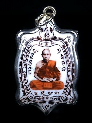 thai buddha amulet LOCKET Tao LP liw The maestro Money Rich Luck Good Business