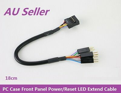 Asus PC Case Front Panel Power Reset LED Extend Cable 14001-01240000 18cm