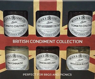 British Condiment Collection, 6 Flavours of Chutney Perfect for BBQ and Picnic