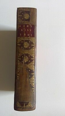Army List 1801.  For the British Army.  Leather bound.  Good condition.