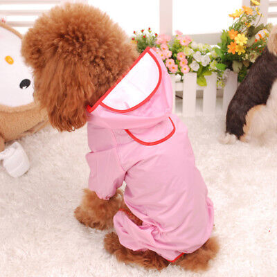 1x Waterproof Dog Clothes Pet Puppy Raincoat Jacket for Small Large Dogs