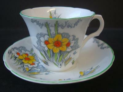 Vintage Melba Bone China Narcissus Tea Cup And Saucer