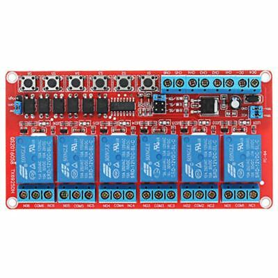 1PCS DC 12V 6-Channel Relay Module High/Low Level Triger Self-Lock Relay W1I4