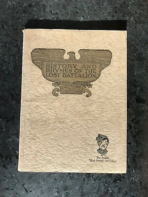 HISTORY AND RHYMES OF THE LOST BATTALION By L.C. McCollum 1923 illustrated softc