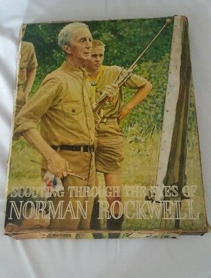 SCOUTING THROUGH THE EYES of NORMAN ROCKWELL - COMPLETE SET OF 44 PRINTS 11x14