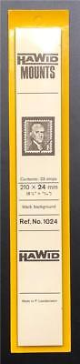 Stamp Mounts Supplies Hawid #1024 New 23strips 24mm by 210mm Black background