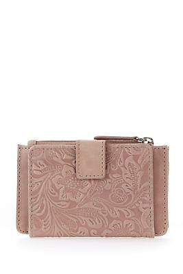 New Mabel & Lou Leather RFID Mini Tab Womens Small Purse Wallet Dusk Small