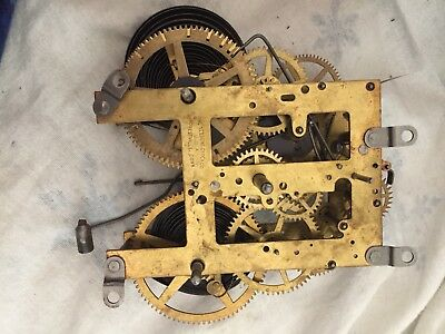 Working Antique Sessions Forestville Connecticut Mantle Clock Movement