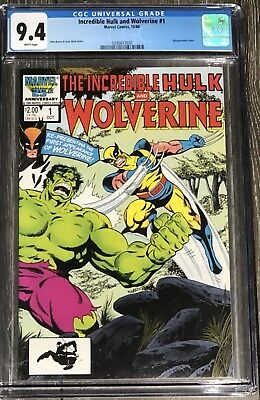 Incredible Hulk vs Wolverine # 1 CGC 9.4 (White Pages) Wraparound Cover