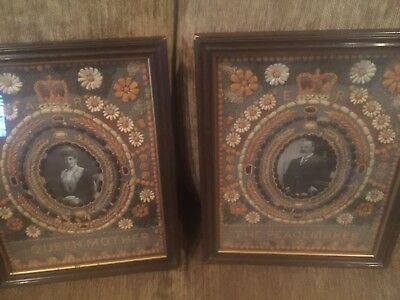 vintage British Monarch King Edward & Queen Alexandra seed picture from royalty