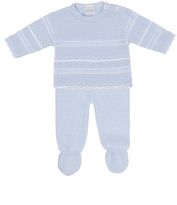 Traditional Spanish Style Baby Boy Blue Knitted Outfit