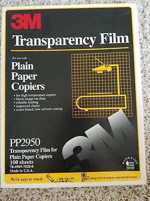 "Opened 3M Transparency Film For Copiers PP2950 55 Sheets 8.5"" x 11"""