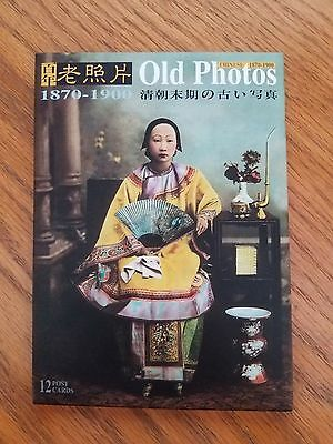 Old Photos Chinese 1870-1900 - Lot of 12 Postcards