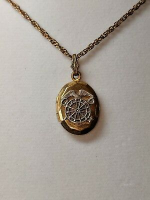 Wwii Military Sweetheart Pendant Necklace