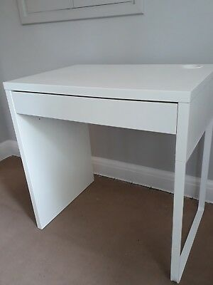 Ikea Micke Desk In White With Single Drawer