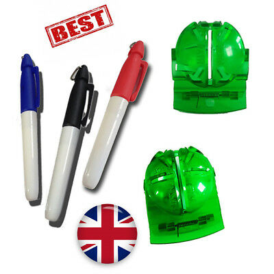 Golf Ball Line Marker with 3 Pens Drawing Tool Liner Marker Sign Tool 1 Set UK