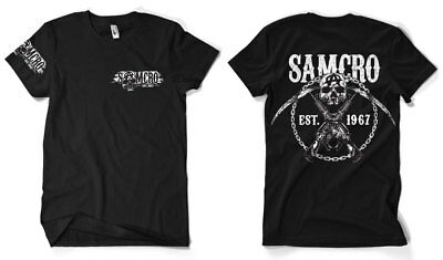 Sons of Anarchy - SAMCRO Chain Official Licensed Men's T-Shirt S-XXL, 3XL Black