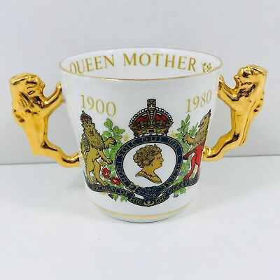 Paragon Fine Bone China Queen Elizabeth The Queen Mother Commemorative Mug
