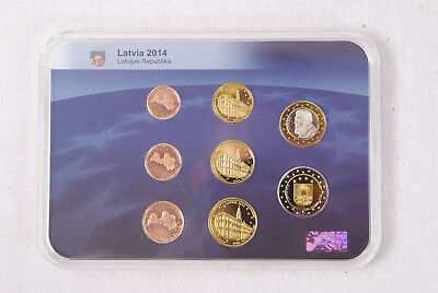 Kursmünzensatz Latvia Lettland Euro Münzen 2014 Premium Collection