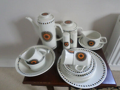 Vintage 1970's J&G Meakin 'Inca' Dinner / Tea tableware items, select your item