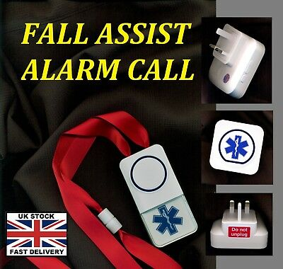 FALL  ASSIST (cordless) MAINS (no batteries  required*) ALARM CALL 250m range !