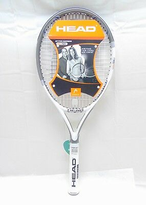 Original Head YouTek 3 Star Tennis Racquet Size 4 1/2-4 White/Grey