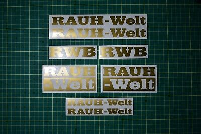 RAUH-Welt Decals Stickers Set -GOLD- Porsche Racing Motorsport Tuning RAUH Welt
