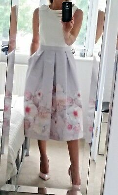 aee8a543a8a12 BNWT TED BAKER Chelsea Bow Gilith PROM! Dress Size 2 UK Size 10 ...