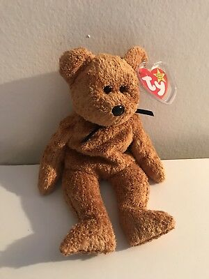 Vintage 1998 Ty Beanie Baby FUZZ The Bear With Tag  Plush Toy
