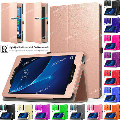 """Leather Flip Smart Stand Case Cover For Samsung Galaxy Tab A 7"""" SM-T280 SM-T285"""