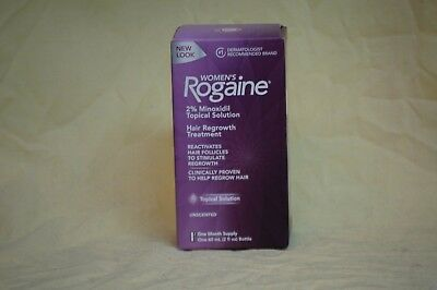 Women's Rogaine Topical Solution, One Month Supply Hair Loss Treatment EXP 10/21
