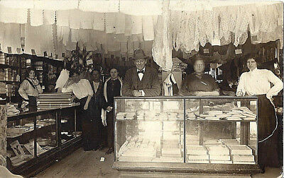 1907-1915 Rppc New Britain, Conn View Of Burns General Store Interior