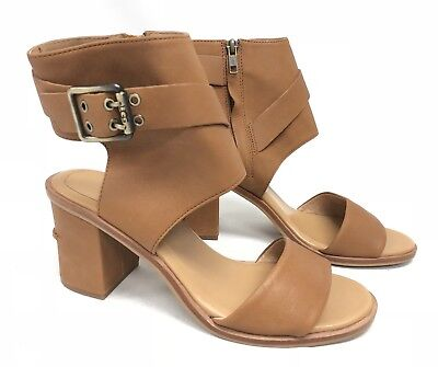 d7ceb10029254 UGG Australia Claudette Leather Heeled Sandals in Almond Side Buckle  1090433 10