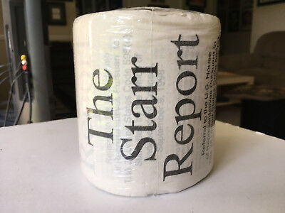 Ken Starr Report on President Bill Clinton toilet roll political collectible