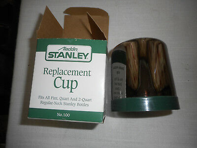 Aladdin Stanley Steel Thermos REPLACEMENT CUP #100 NIB Fits All Pint & Qts
