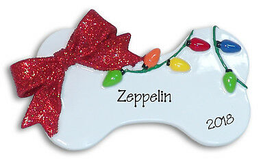 PUPPY Dog Bone Personalized CHRISTMAS Ornament by Deb & Co