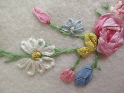 Beautiful Vintage Hand Worked Roses Throw Ribbon Work Peach Porch Throw Blanket