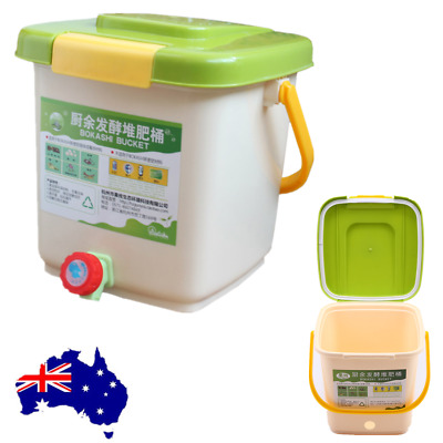 12L Recycle Composter Aerated Compost Bin Bokashi Bucket Kitchen Food Waste AU