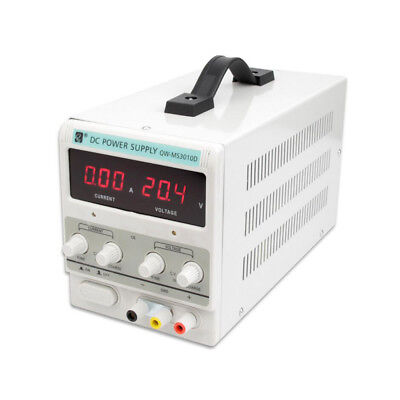 30V 10A/5A Adjustable DC Power Supply Dual Digital Lab Test 110V 60HZ/220V 50HZ