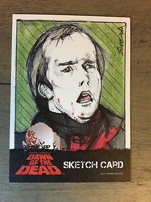 Dawn Of The Dead Trading Cards Sketch Cards John Sloboda  Fright-Rags Roger