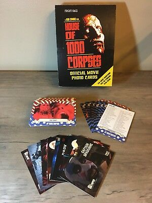 House Of 1000 Corpses Trading Cards Set With Box Fright-Rags Horror