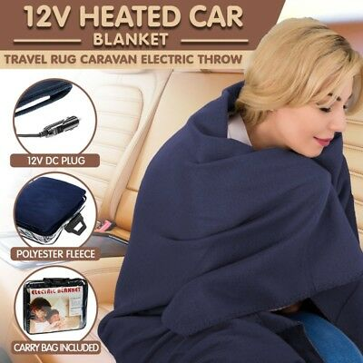 Electric Heated Car Blanket - 12v