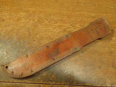 WW2 USMC Named Leather Sheath for a Kabar 2nd Amphibious Tractor Battalion NR~~