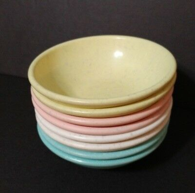 Lot Of 8 Imperial Ware U.s.a Melamine Speckled Pastel Small Bowls 4""