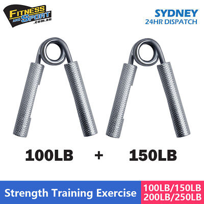 Power Hand Grips Crossfit Grip Strength Bar Gripper Steel Exercise 2pcs