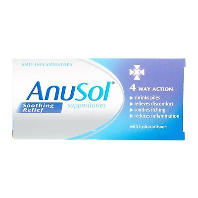 Anusol Soothing Relief Haemorrhoids Suppositories Piles Treatment 12 - 12 Packs