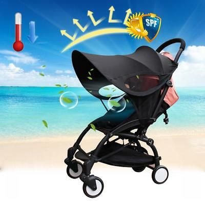 Baby Stroller Sunshade Cover Anti-UV Full Canopy Mosquito Net Protection Fabric