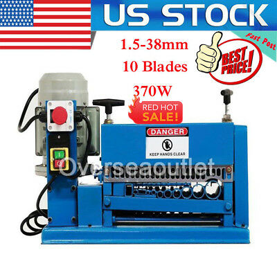 370W Powered Electric Wire Stripping Machine Metal Cable Stripper Scrap Recycle